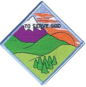 Picture of GSUSA To Serve God Patch Segment: Mountain