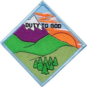 Picture of BSA Duty to God Patch Segment: Mountain