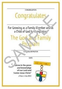 Picture of God & Family Youth Certificate