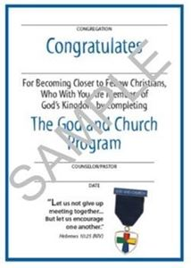 Picture of God & Church Youth Certificate