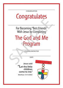 Picture of God & Me Youth Certificate