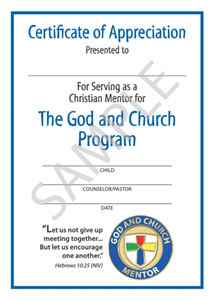 Picture of God & Church Mentor Certificate