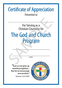 Picture of God & Church Counselor Certificate