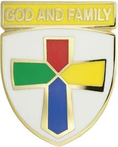 Picture of God & Family Pin