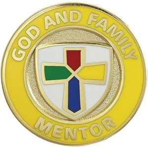 Picture of God & Family Mentor Pin