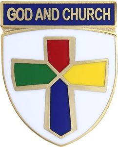 Picture of God & Church Pin