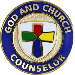 God and Church Counselor Pin