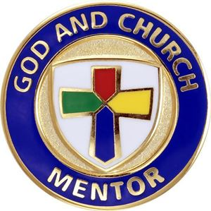 God and Church Mentor Pin