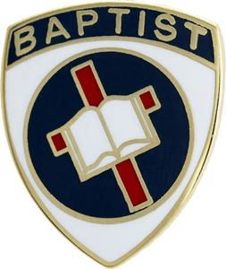 Picture of God & Church Baptist Pin