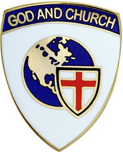 "God and Church Anglican 3/4"" Pin"
