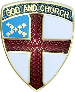 "God and Church Episcopal 3/4"" Pin"