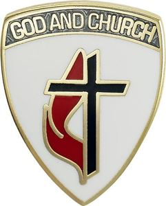 "God and Church Methodist 3/4"" Pin"