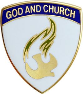 "God and Church Nazarene 3/4"" Pin"