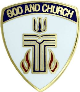 "God and Church Presbyterian 3/4"" Pin"