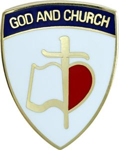 "God and Church PCA 3/4"" Pin"
