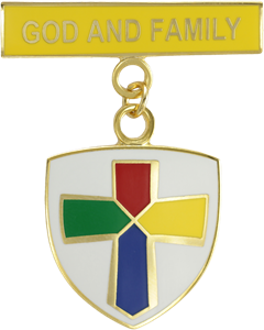 God and Family Medallion