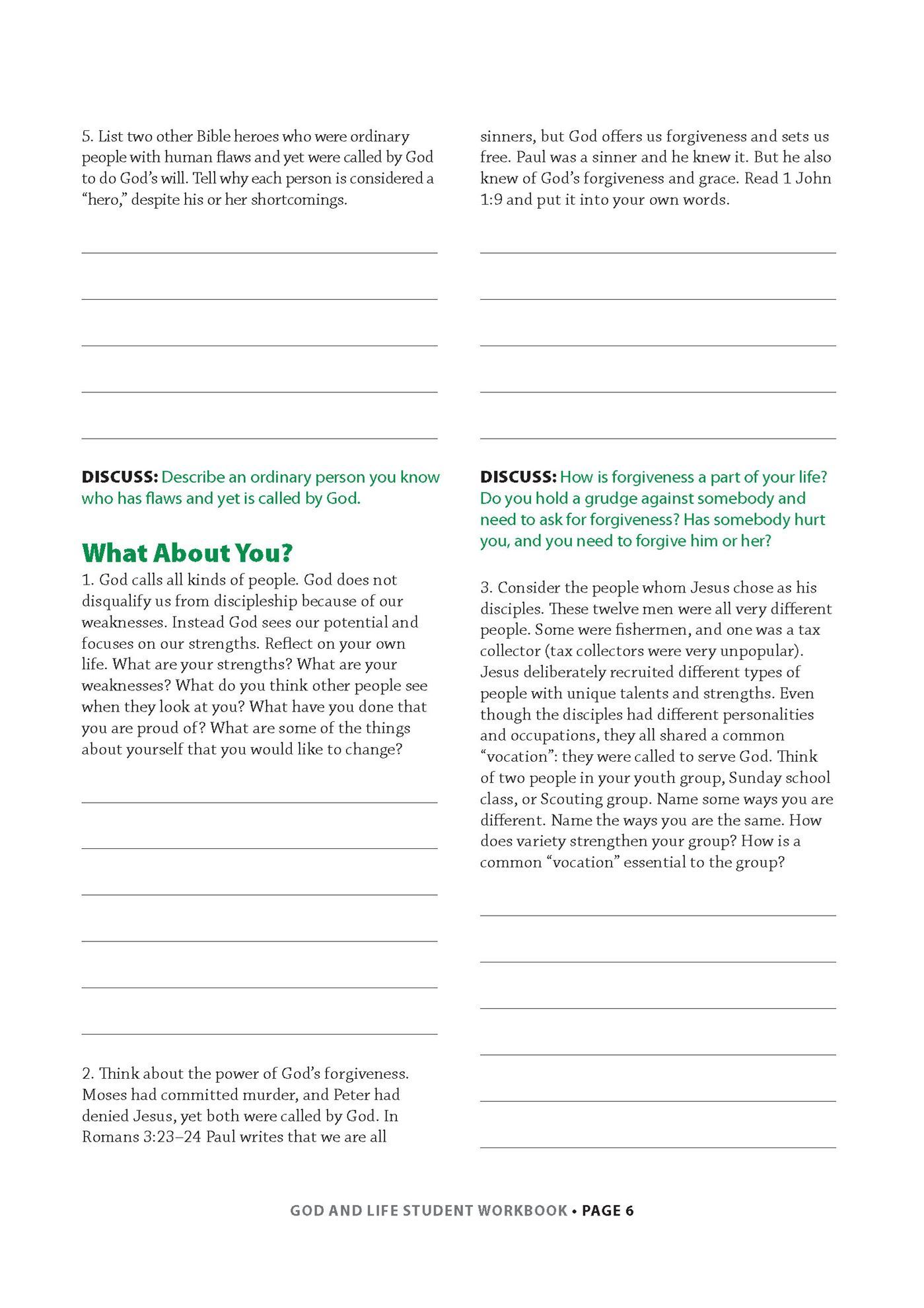 28 God And Life Student Workbook Answers