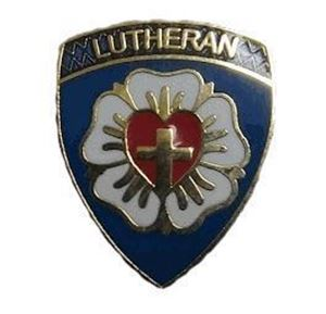 "God and Church Lutheran 3/4"" Pin"