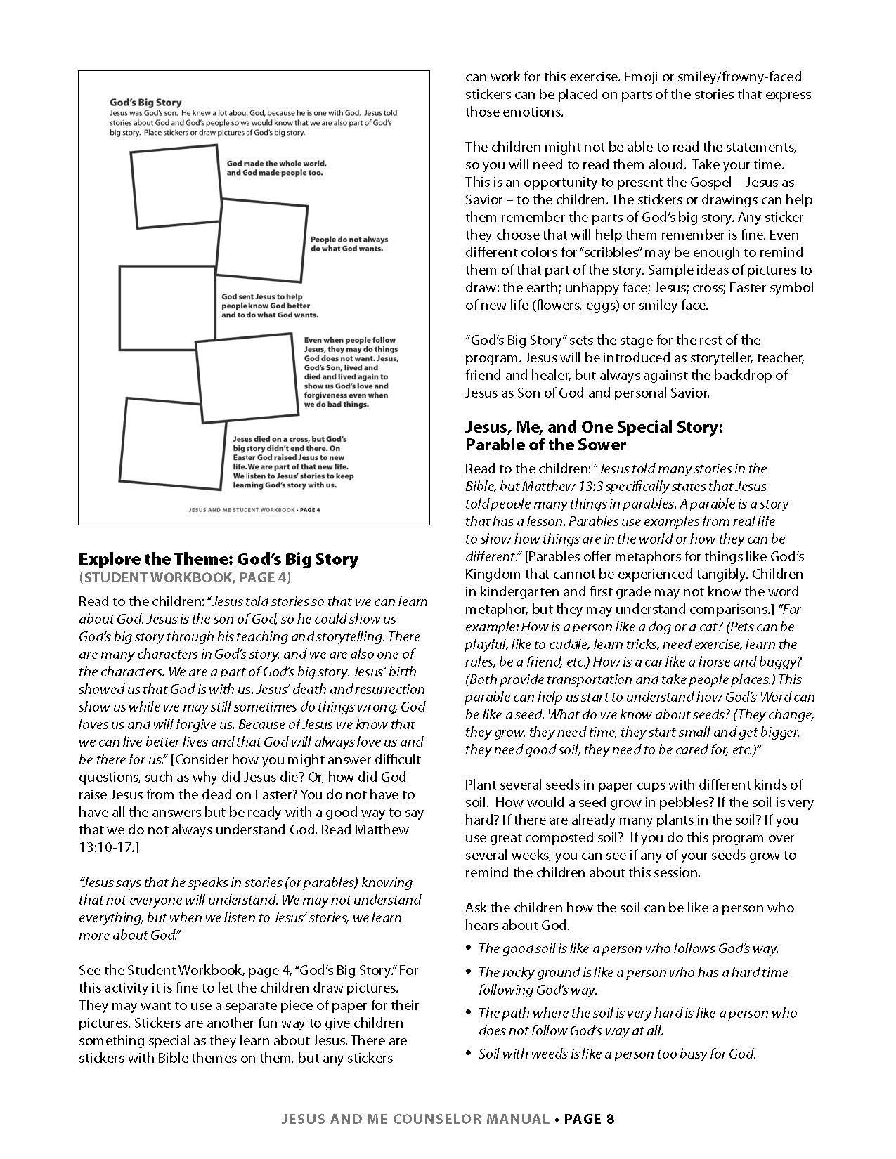Jesus and Me Lesson 1 Page 3
