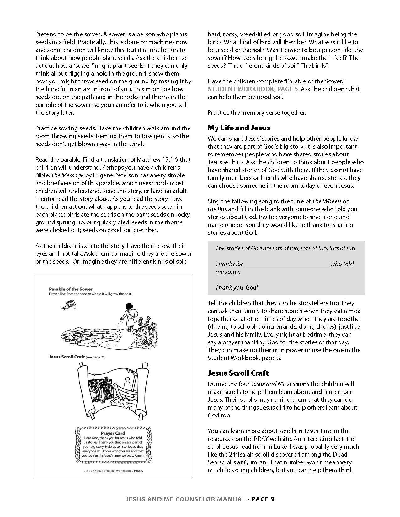 Jesus and Me Lesson 1 Page 4
