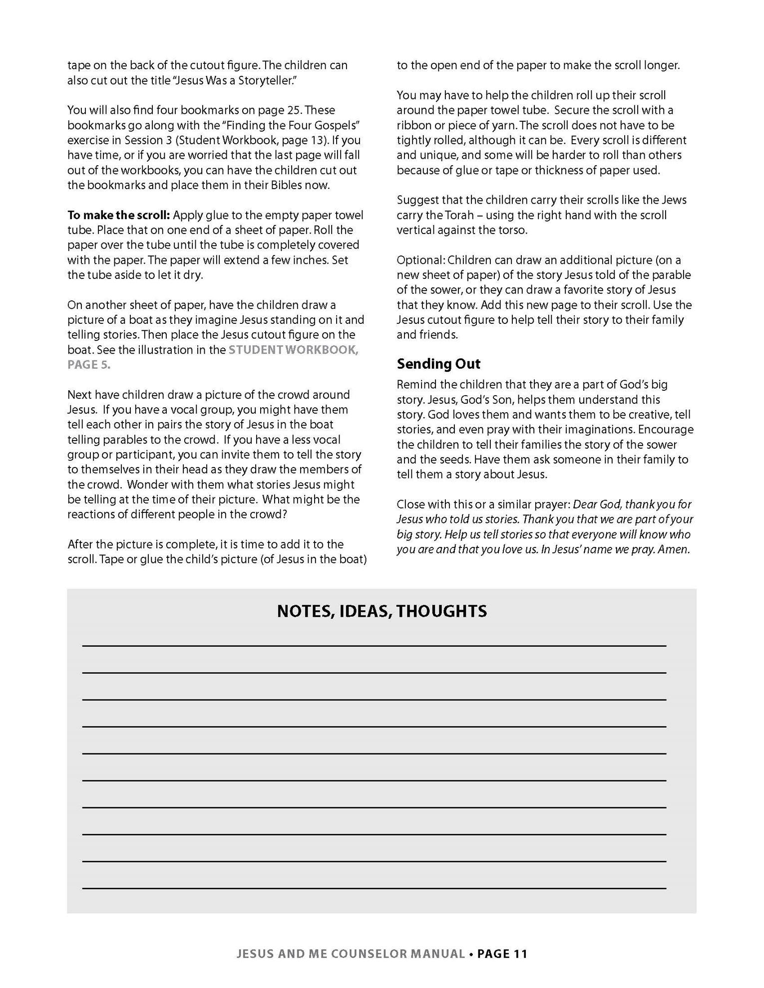 Jesus and Me Lesson 1 Page 6