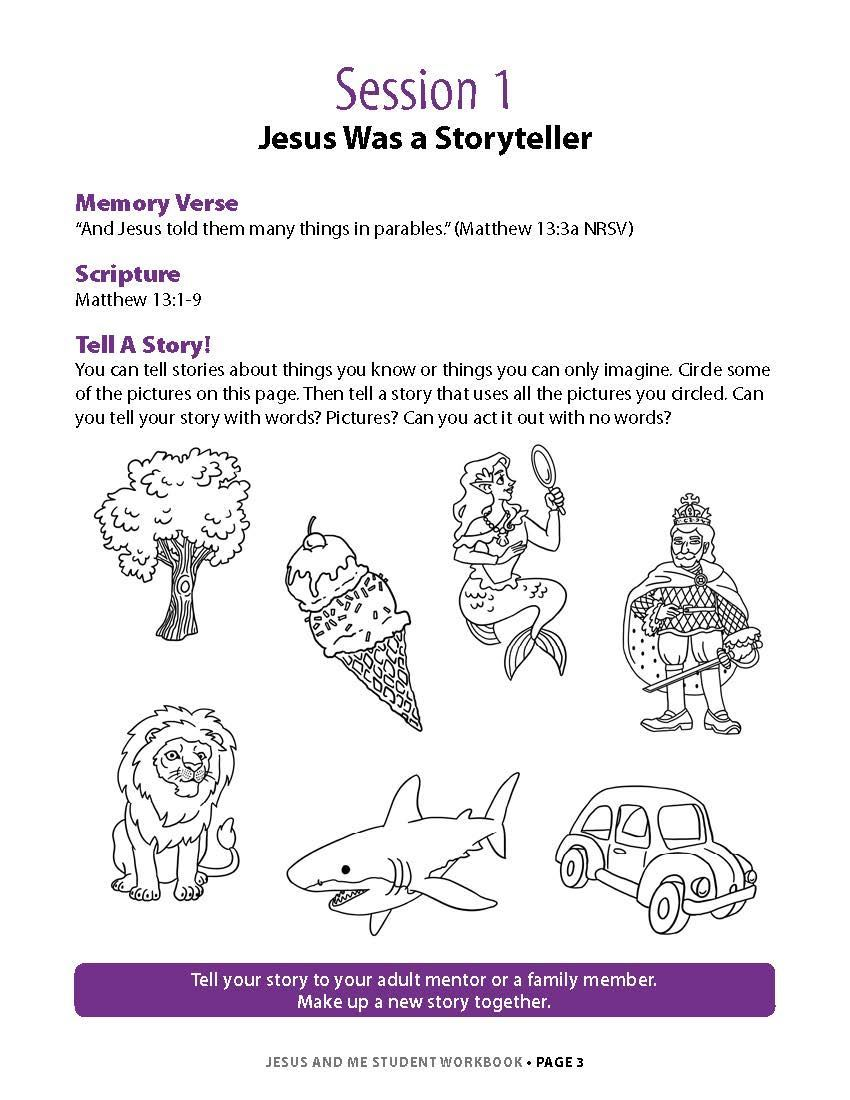Jesus and Me Student Workbook Lesson 1 Page 1