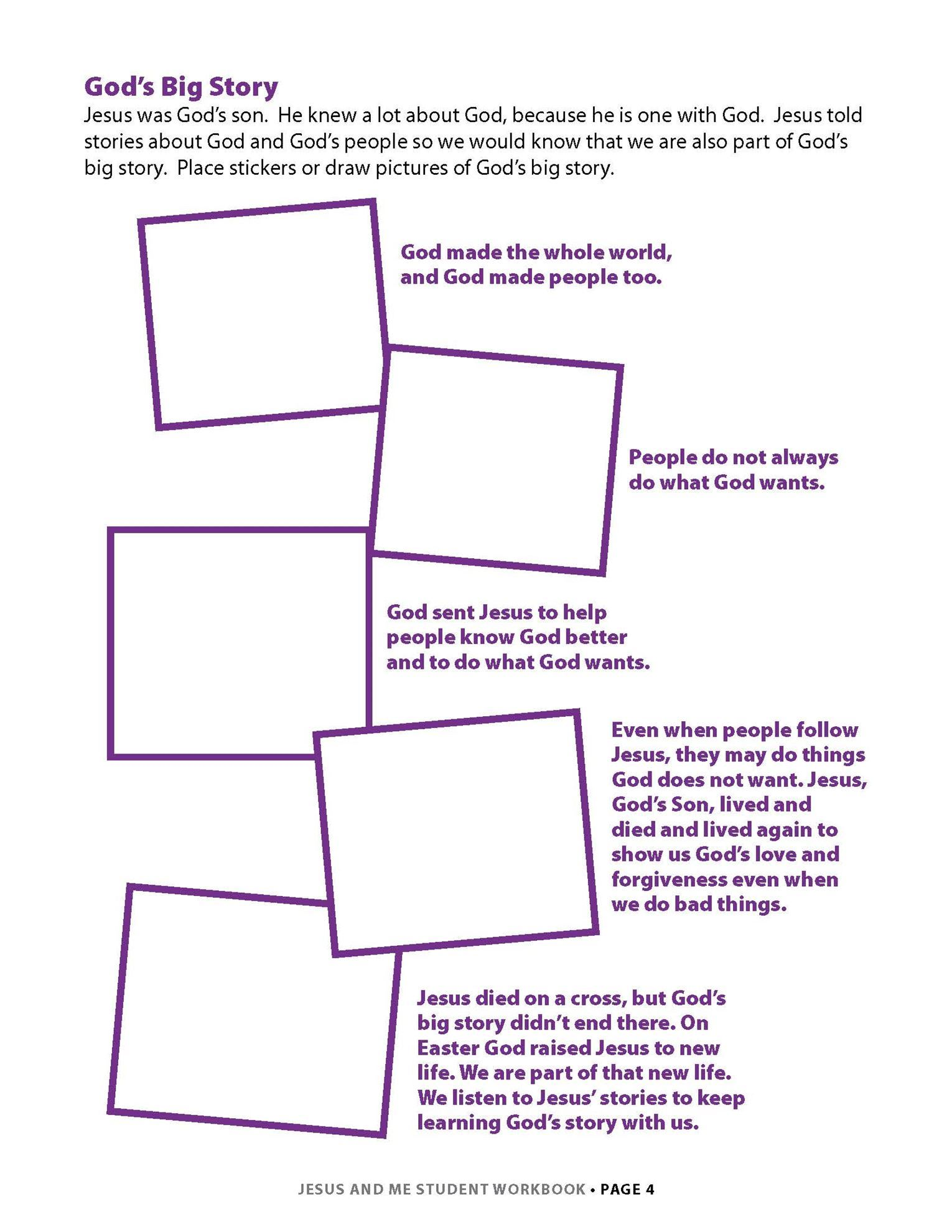 Jesus and Me Student Workbook Lesson 1 Page 2