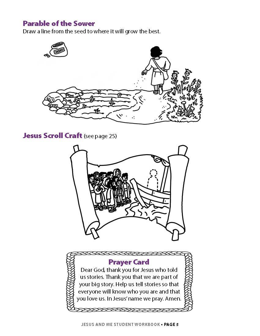 Jesus and Me Student Workbook Lesson 1 Page 3