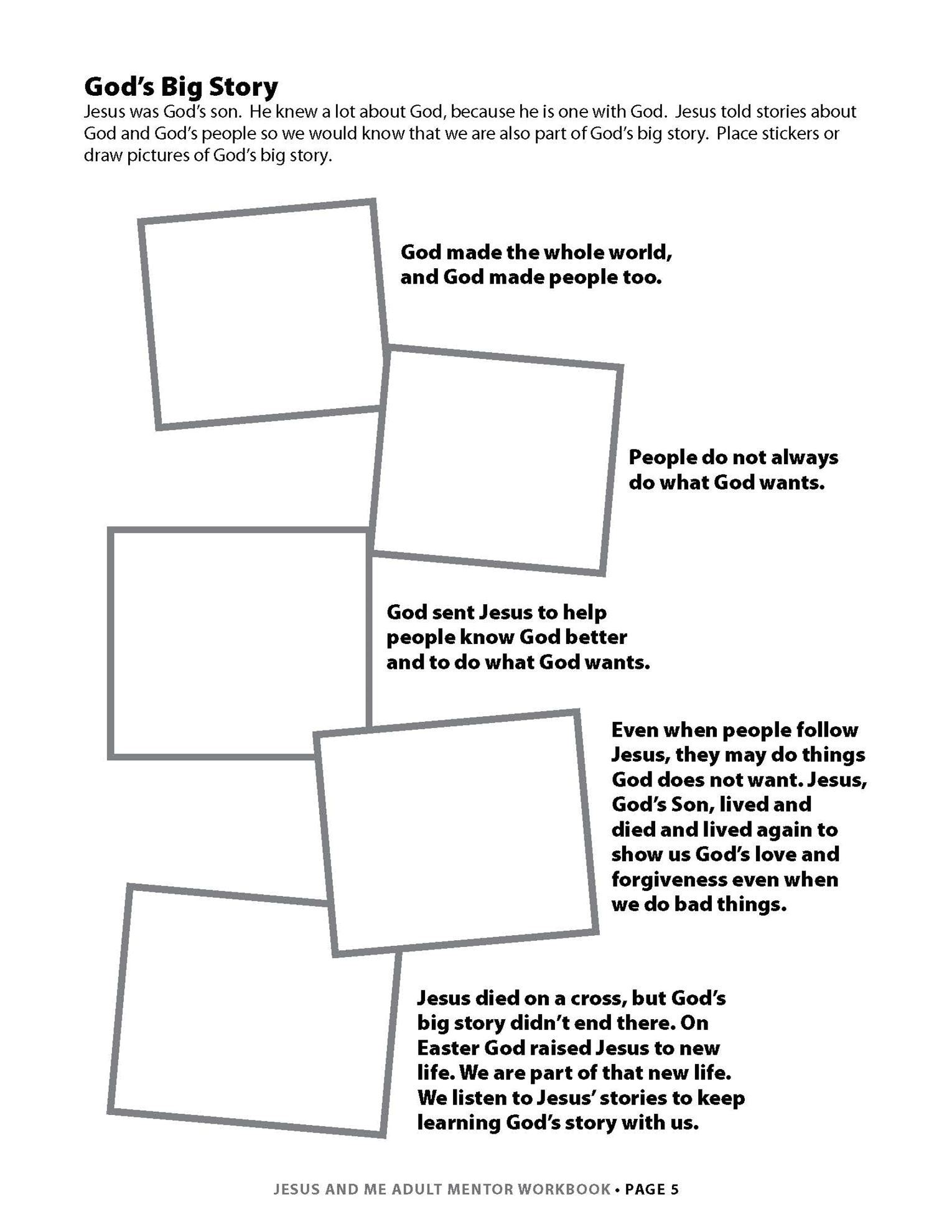 Jesus & Me Mentor Workbook Lesson 1 Page 2