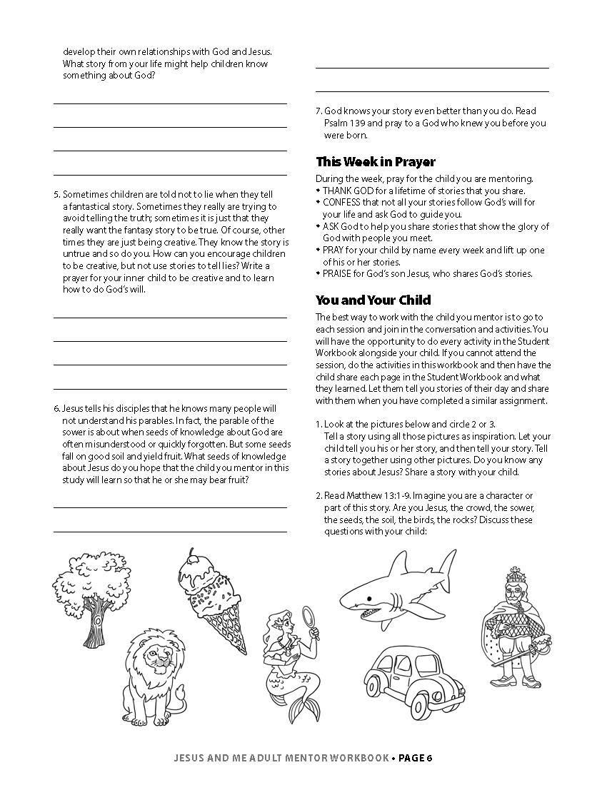 Jesus & Me Mentor Workbook Lesson 1 Page 3