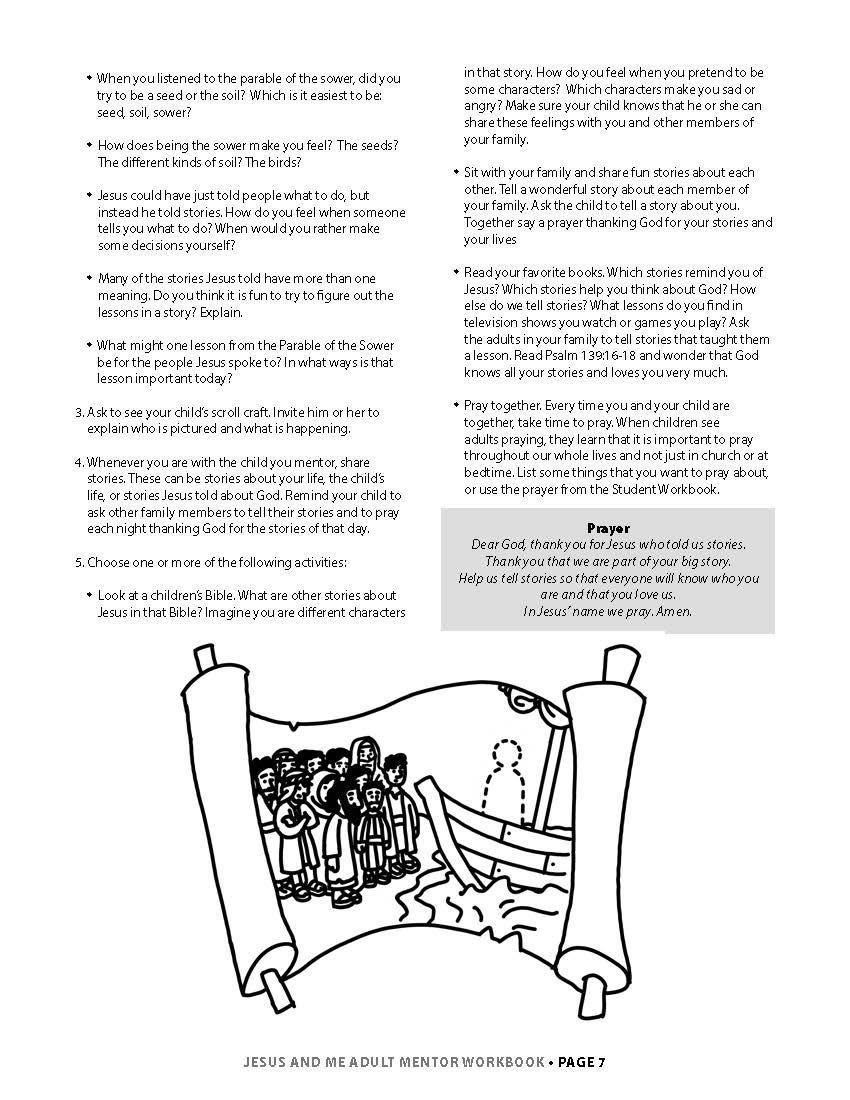 Jesus & Me Mentor Workbook Lesson 1 Page 4