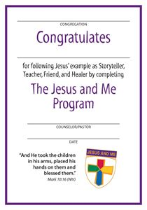 Jesus and Me Youth Certificate
