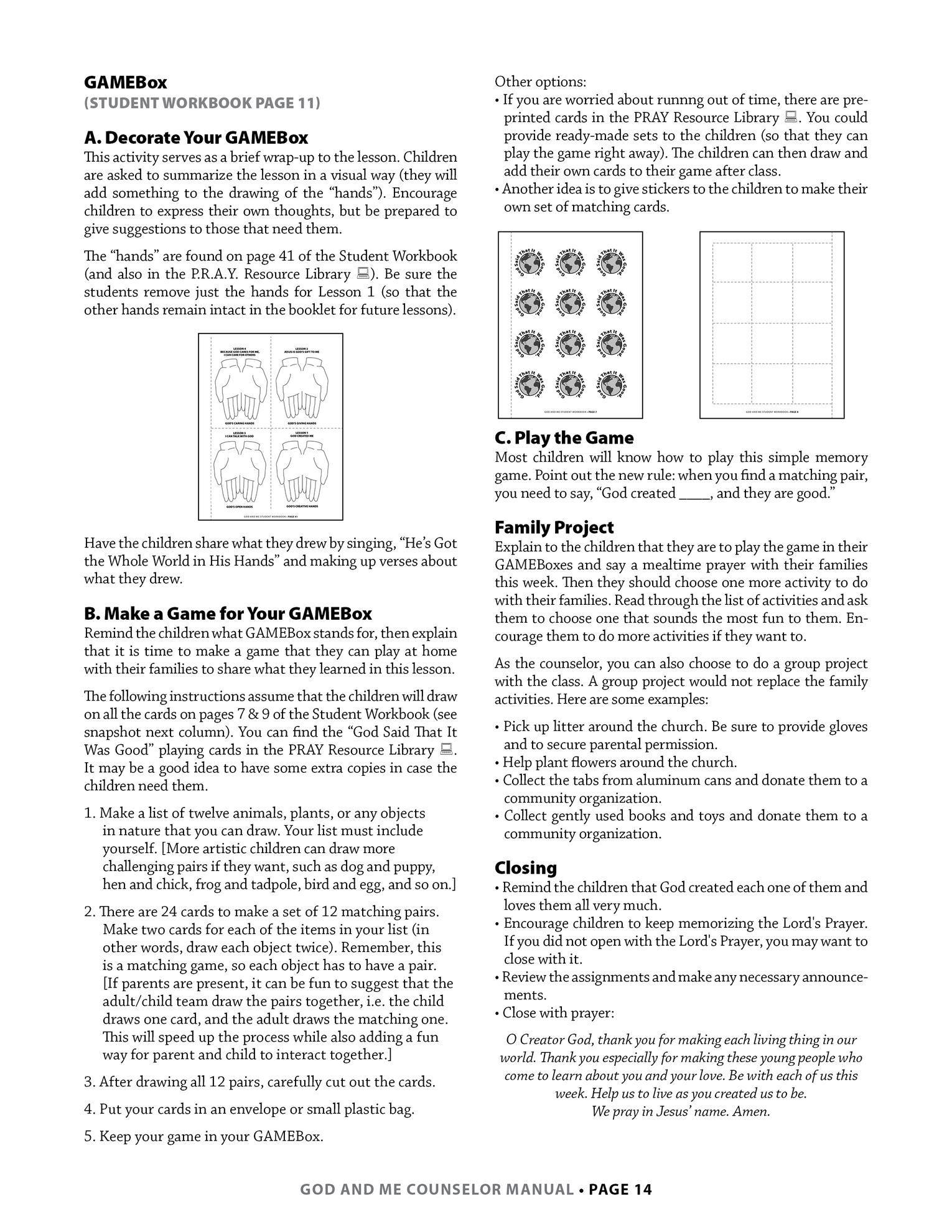 Lesson 1, page 14