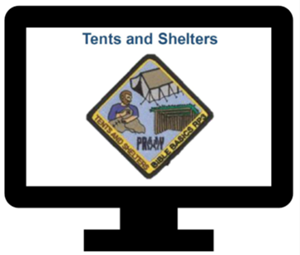 Tents and Shelters Patch (included)