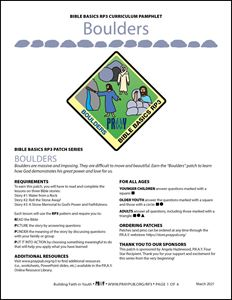 Picture of Boulders Curriculum Pamphlet (PDF)