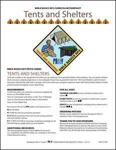 Picture of Tents and Shelters Curriculum Pamphlet (PDF)